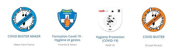 Covid badges